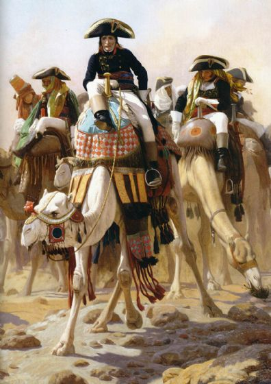 Gerome, Jean Leon: Napoleon and His Military/General Staff in Egypt. Fine Art Print/Poster. Sizes: A4/A3/A2/A1 (002873)